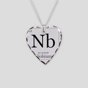 Elements - 41 Niobium Necklace Heart Charm
