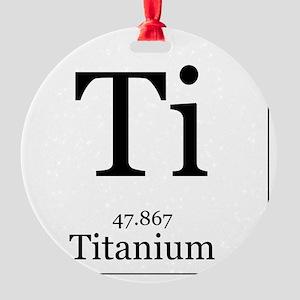 Elements - 22 Titanium Round Ornament