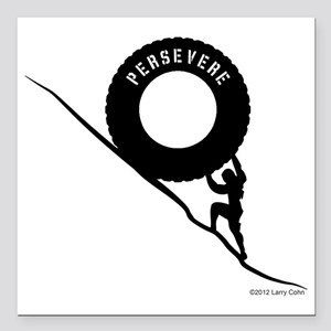 "Persevere Square Car Magnet 3"" x 3"""