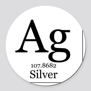 Silver periodic table car accessories cafepress elements 47 silver round car magnet urtaz Choice Image