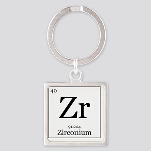 Elements - 40 Zirconium Square Keychain