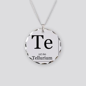 Science cool periodic table elements chemistry necklaces cafepress elements 52 tellurium necklace circle charm urtaz Image collections