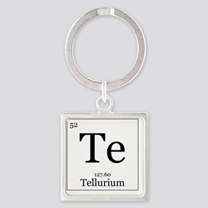 Elements - 52 Tellurium Square Keychain