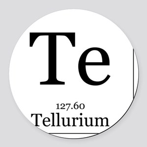 Elements - 52 Tellurium Round Car Magnet