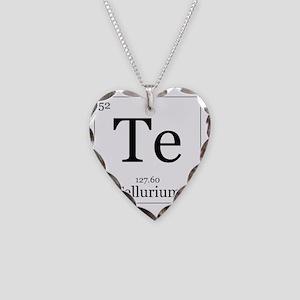 Elements - 52 Tellurium Necklace Heart Charm