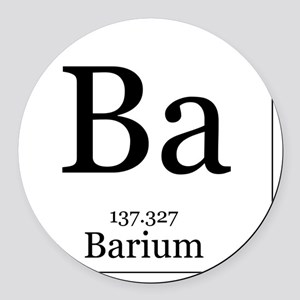 Elements - 56 Barium Round Car Magnet