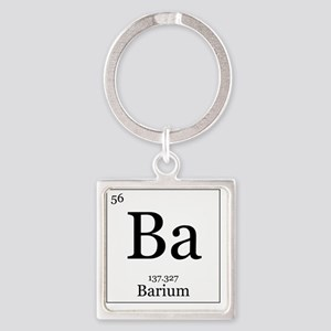 Elements - 56 Barium Square Keychain