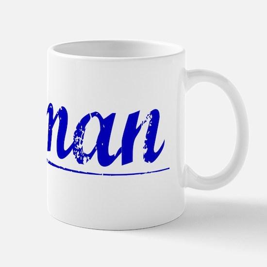 Gutman, Blue, Aged Mug