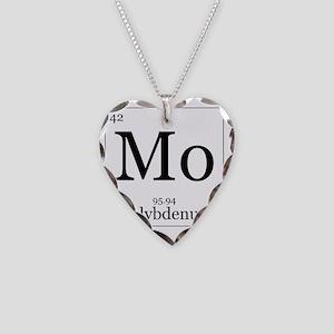 Elements - 42 Molybdenum Necklace Heart Charm