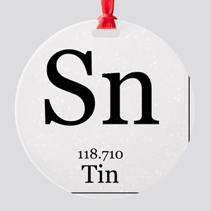 Elements - 50 Tin Round Ornament