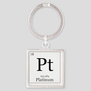Elements - 78 Platinum Square Keychain