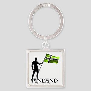 Vinland Patriot Square Keychain