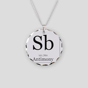 Elements - 51 Antimony Necklace Circle Charm