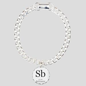 Elements - 51 Antimony Charm Bracelet, One Charm