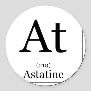 Elements - 85 Astatine Round Car Magnet