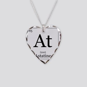 Elements - 85 Astatine Necklace Heart Charm