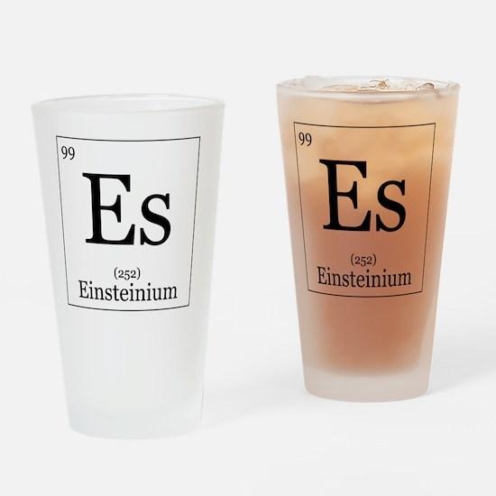 Elements - 99 Einsteinium Drinking Glass