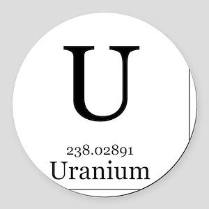 Elements - 92 Uranium Round Car Magnet