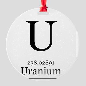 Elements - 92 Uranium Round Ornament