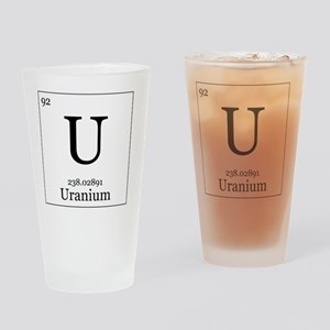 Elements - 92 Uranium Drinking Glass