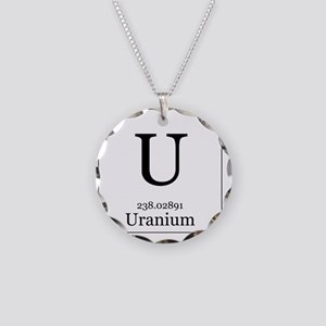 Elements - 92 Uranium Necklace Circle Charm