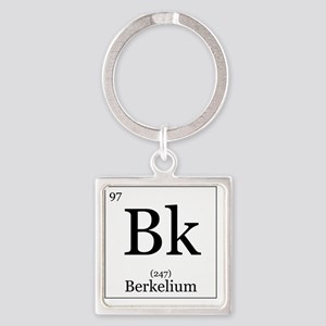 Elements - 97 Berkelium Square Keychain