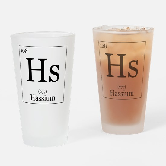 Elements - 108 Hassium Drinking Glass