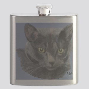American Shorthair Gray Cat Flask