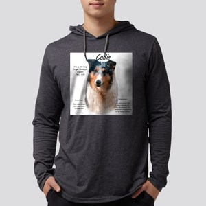 Collie (smooth merle) Mens Hooded Shirt