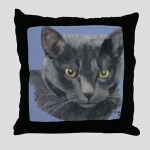 American Shorthair Gray Cat Throw Pillow