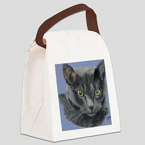 American Shorthair Gray Cat Canvas Lunch Bag