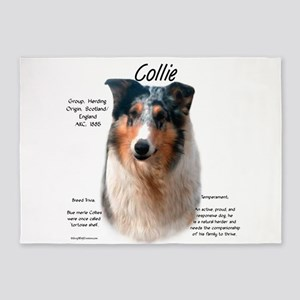 Collie (smooth merle) 5'x7'Area Rug