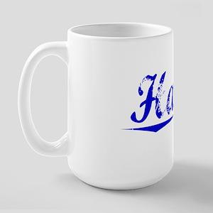 Harsh, Blue, Aged Large Mug