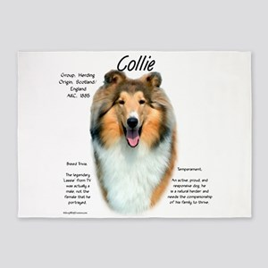 Collie (rough sable) 5'x7'Area Rug