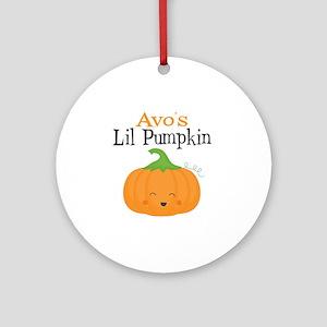 Avos Little Pumpkin Round Ornament