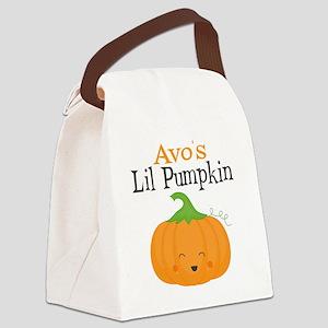 Avos Little Pumpkin Canvas Lunch Bag