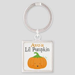 Avos Little Pumpkin Square Keychain