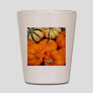 Pumpkins in a basket Shot Glass