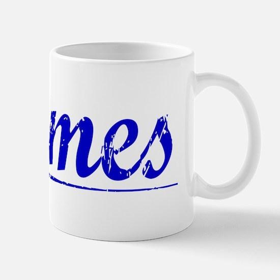Hermes, Blue, Aged Mug
