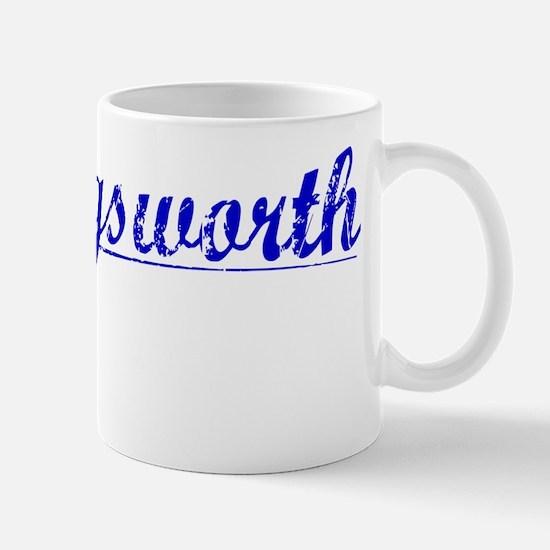 Hollingsworth, Blue, Aged Mug