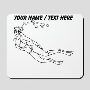 Custom Snorkler In Bikini Mousepad