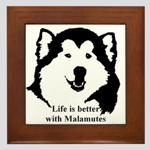 Life is better with Malamutes Framed Tile
