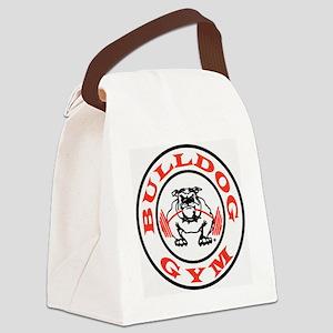 Bulldog Gym Logo Canvas Lunch Bag