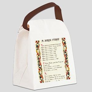 A Simple Prayer by Saint Francis  Canvas Lunch Bag