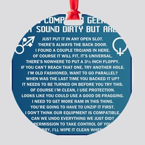 Dirty Computers Round Ornament
