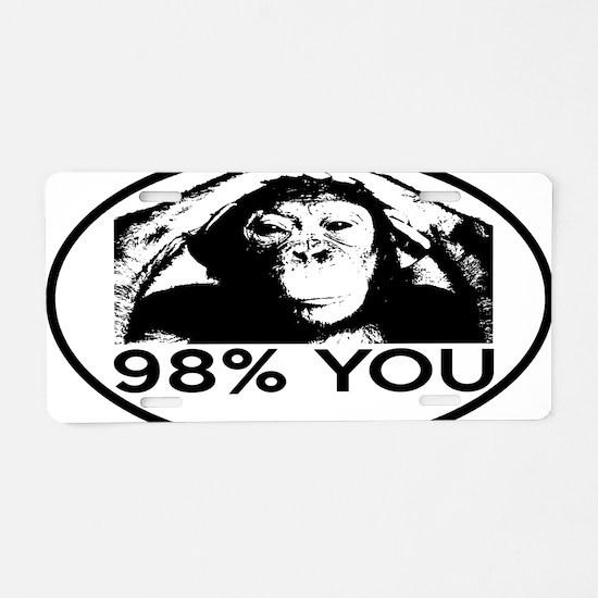 chimp98oval Aluminum License Plate