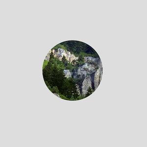 Pine tree cliffs Mini Button