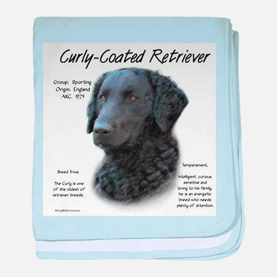 Curly-Coated Retriever baby blanket