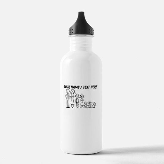 Custom Happy Family Water Bottle
