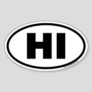 Hawaii HI Euro Oval Sticker